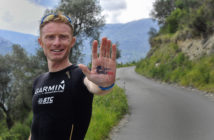 Sebastien Camus et Julien Jorro, Team Garmin Adventure, au départ du Wings For Life